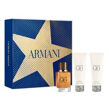 Giorgio Armani Acqua di Gio Absolu zestaw woda perfumowana spray 40ml + żel pod prysznic 75ml + balsam po goleniu 75ml
