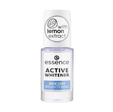 Essence – Active Whitener Base Coat Brightening wybielająca baza do paznokci (8 ml)
