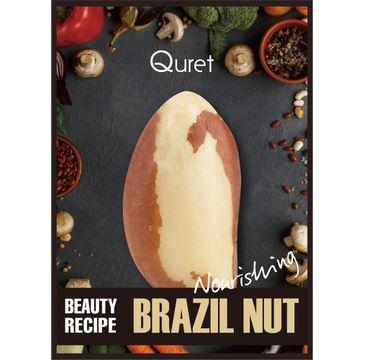 Quret – Beauty Recipe Mask Nourishing odżywcza maska w płachcie Orzech Brazylijski (25 g)