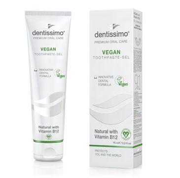 Dentissimo Toothpaste-Gel Vegan naturalna – pasta do zębów z wit. B12 (75 ml)