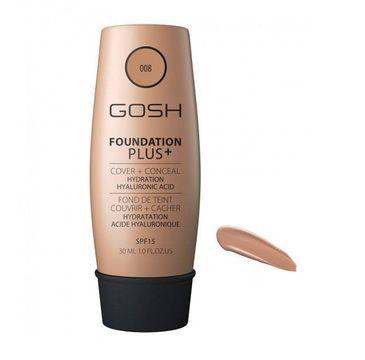 Gosh Foundation Plus+ podkład kryjąco-korygujący 008 Golden 30 ml
