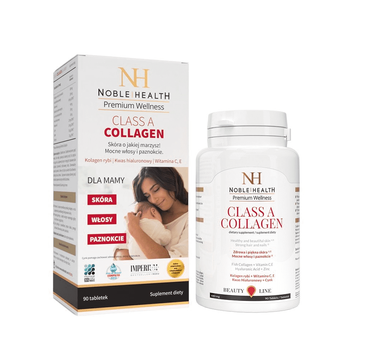 Noble Health Premium Wellness Class A Collagen – kolagen dla mamy (90 tabletek)