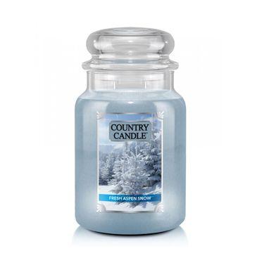 Country Candle–  Duża świeca zapachowa z dwoma knotami Fresh Aspen Snow (680 g)