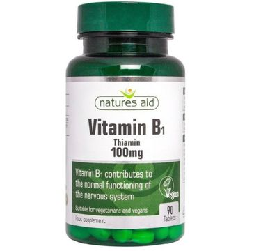 Natures Aid Vitamin B1 100mg suplement diety 90 tabletek