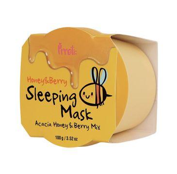 Prreti Honey & Berry Sleeping Mask – odżywcza maseczka do twarzy na noc (100 g)