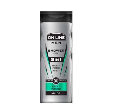 On Line Men Light Azure – żel pod prysznic 3in1 dla mężczyzn (400 ml)