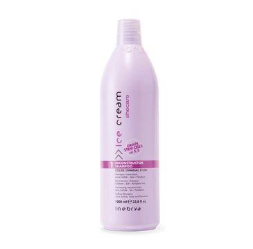 Inebrya Ice Cream Shecare Reconstruction Shampoo – szampon rekonstruujący włosy z keratyną (1000 ml)