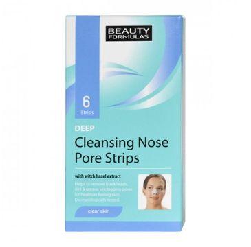 Beauty Formulas – Clear Skin Deep Cleansing Nose Pore Strips głęboko oczyszczające paski na nos (6 szt.)