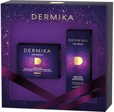 Dermika – Insomnia zestaw księżycowy krem nawilżająco-wygładzający 30-40+ na noc 50ml + księżycowa super-maska enzymatyczna przywracająca skórze blask na noc 50 ml (1 szt.)