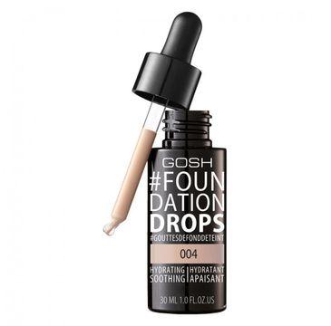 Gosh Foundation Drops 004 Natural (nawilżająco-wygładzający podkład do twarzy 30 ml)