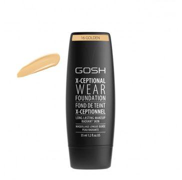 Gosh X-Ceptional Wear Foundation Long Lasting Makeup (długotrwały podkład do twarzy 16 Golden 35 ml)