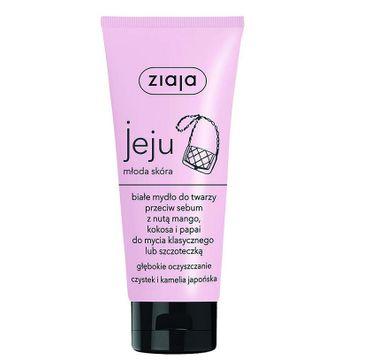 Ziaja – Jeju białe mydło do twarzy przeciw sebum z nutą mango kokosa i papai (75 ml)