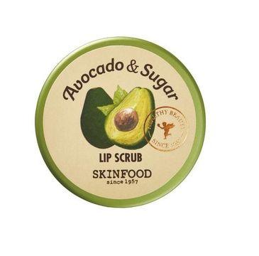 Skinfood – Avocado & Sugar Lip Scrub złuszczająco-odżywczy peeling do ust z awokado i cukrem trzcinowym (14 g)