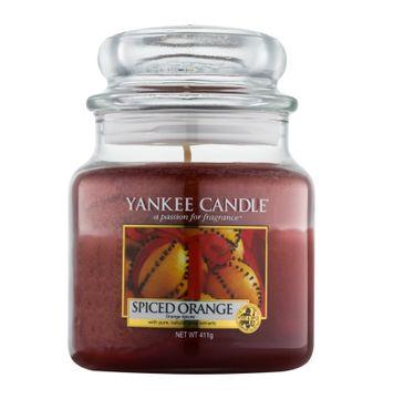 Yankee Candle – Świeca zapachowa średni słój Spiced Orange (411 g)