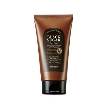 Skinfood – Black Sugar Perfect Scrub Foam delikatnie złuszczająca pianka do twarzy z nierafinowanym cukrem trzcinowym (180 g)