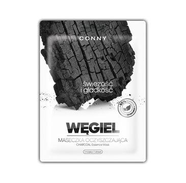 Conny Charcoal Essence Mask – oczyszczająca maseczka w płachcie Węgiel Drzewny (23 g)