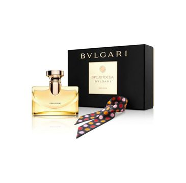 Bvlgari Splendida Iris D'or zestaw woda perfumowana spray 100ml + apaszka