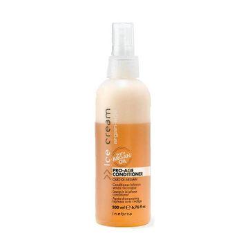 Inebrya – Ice Cream Pro-Age Conditioner dwufazowa odżywka do włosów z olejkiem arganowym (200 ml)