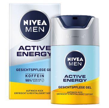 Nivea Men – Active Energy energetyzujący krem-żel do twarzy (50 ml)