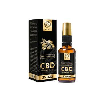 Dr. T&J Sweet Almond Oil naturalny olej ze słodkich migdałów BIO + CBD 250 MG (50 ml)