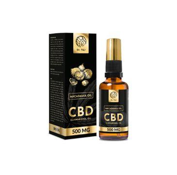 Dr. T&J Makadamia Oil naturalny olej makadamia BIO + CBD 500 MG (50 ml)