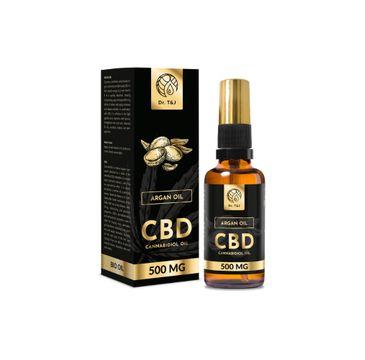 Dr. T&J Argan Oil naturalny olej arganowy BIO + CBD 500 MG (50 ml)