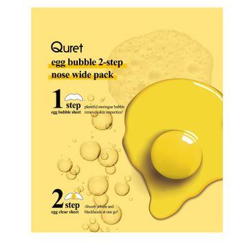 Quret – Egg Bubble 2-Step Nose Wide Pack dwuetapowe paski oczyszczające na nos (2 szt.)