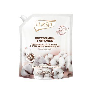Luksja – Creamy Cotton Milk & Vitamins kremowe mydło w płynie opakowanie uzupełniające (900 ml)