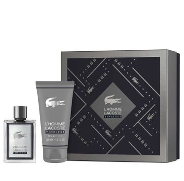 Lacoste L'Homme Timeless – zestaw woda toaletowa spray (100 ml) + żel pod prysznic (150 ml)