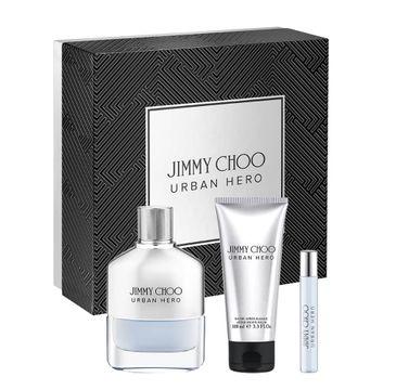 Jimmy Choo Urban Hero – zestaw woda perfumowana spray (100 ml) + balsam po goleniu (100 ml) + miniatura wody perfumowanej (7.5 ml)