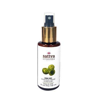 Sattva Soft And Shiny Scalp Tonic –  wcierka blask i miękkość do skóry głowy Henna & Amla (100 ml)