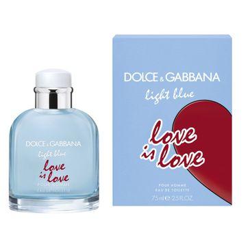 Dolce & Gabbana Light Blue Love Is Love Pour Homme – woda toaletowa spray (75 ml)