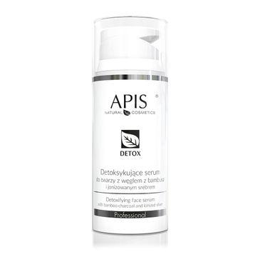 Apis – Detox detoksykujące serum do twarzy z węglem z bambusa i jonizowanym srebrem (100 ml)