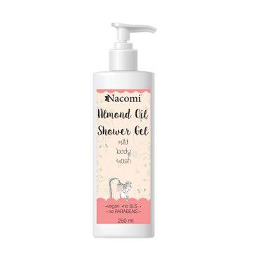 Nacomi Almond Oil Shower Gel – żel pod prysznic z olejem ze słodkich migdałów (250 ml)