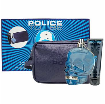 Police To Be Man zestaw woda toaletowa spray 125ml + żel pod prysznic 100ml + kosmetyczka