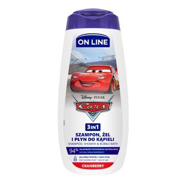 On Line – Żel 3w1 Cars Żurawina (400 ml)