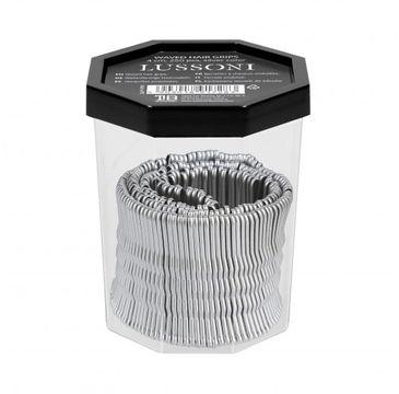 Lussoni – Wsuwki do włosów srebrne karbowane 4cm (250 szt.)
