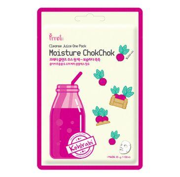 Prreti Cleanse Juice One Pack – nawilżająca maska do twarzy w płachcie Czerwona Kalarepa (25 g)
