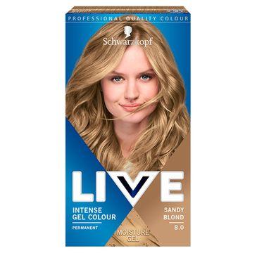 Schwarzkopf – Live Intense Gel Colour koloryzacja do włosów w żelu 8.0 Sandy Blond (1 szt.)
