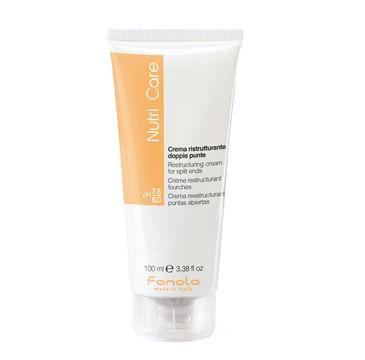 Fanola Nutri Care Restructuring Cream – krem na rozdwojone końcówki (100 ml)