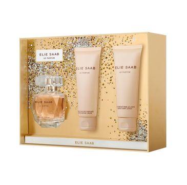 Elie Saab Le Parfum – zestaw woda perfumowana spray (50 ml) + balsam do ciała (75 ml) + żel pod prysznic (75 ml)
