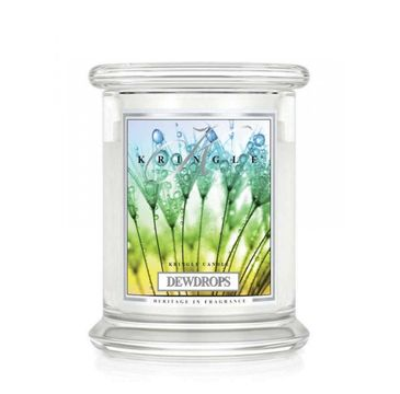 Kringle Candle – świeca zapachowa z dwoma knotami Dewdrops (411 g)