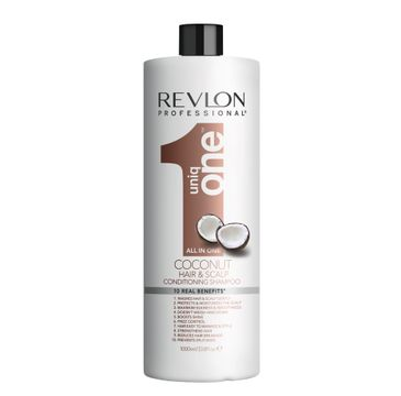 Revlon – Professional Uniq One All In One Coconut Conditioning Shampoo odżywczy szampon do włosów z balsamem (1000 ml)