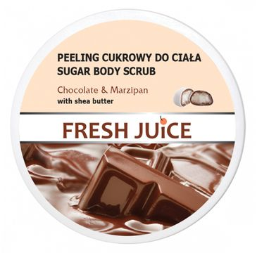 Fresh Juice – Peeling cukrowy do ciała Chocolate & Marzipan (225 ml)