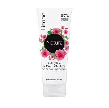 Lirene Natura Eco – krem nawilżający do dłoni i paznokci Organiczna Malwa (75 ml)
