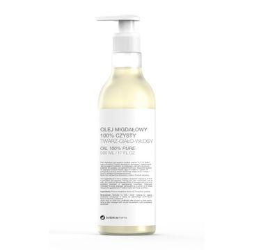 Botanicapharma – Olej migdałowy 100% czysty do twarzy ciała i włosów pompka (500 ml)