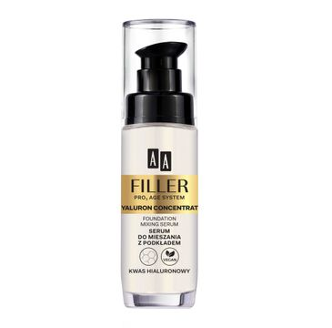 AA Filler Pro3 Age System Hyaluron Concentrate – serum do mieszania z podkładem – Kwas hialuronowy (30 ml)