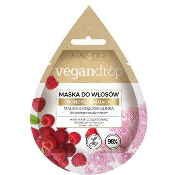 Marion Vegan Drop 鈥� maska do w艂os贸w kondycjonuj膮ca Malina& R贸偶owa Glinka (20 ml)