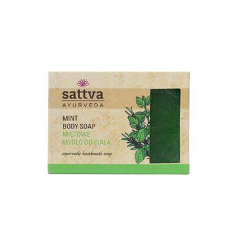 Sattva Body Soap indyjskie mydło glicerynowe Mint 125g