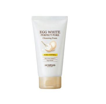 Skinfood – Egg White Perfect Pore Cleansing Foam głęboko oczyszczająca pianka do mycia twarzy (150 ml)